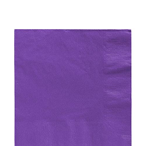 Big Party Pack New Purple Luncheon Paper Napkins, 125 Ct.