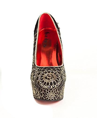 Azure Shoes Cut Black Hades Heels Custom Metal aqFWAx5HWc