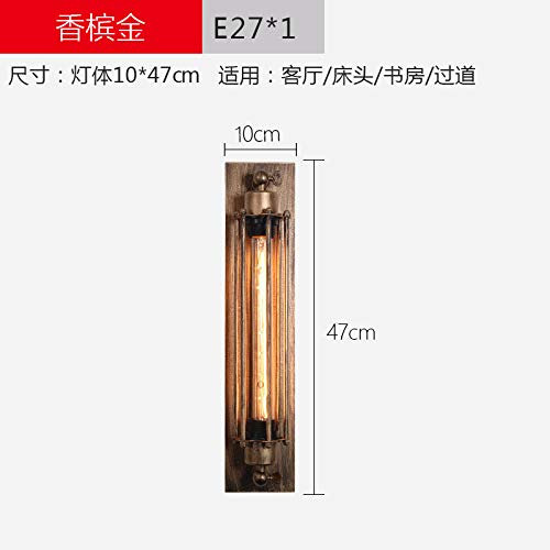 - Wall Sconce Lights Wall Lamp American Wrought Iron Retro Industrial Wind Love Didi Grow Flute Wall Lamp,Champagne Gold_Without Bulb