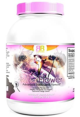 Wild Flower. No Workout or Exercise Needed. Natural Thermogenic Fat Burner Supplement Capsule for Women. Rapid Weight Loss. Burn Body Fat. Increase Energy, Control Appetite and Boost Metabolism.