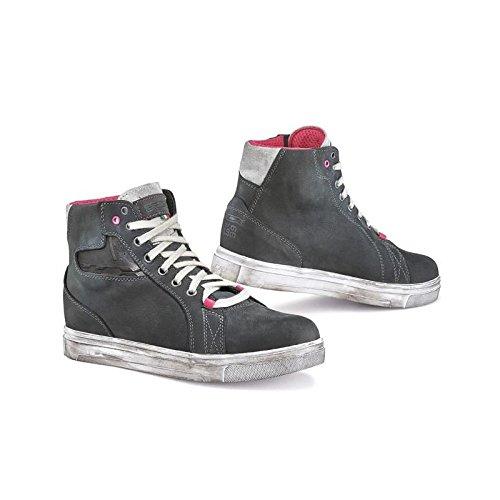 (TCX Street Ace Lady Waterproof Women's Street Motorcycle Shoes - Dark Grey / 39)