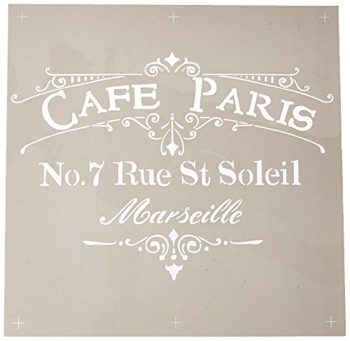 (DecoArt ADS-02 Americana Decor Stencil, Cafe Paris)