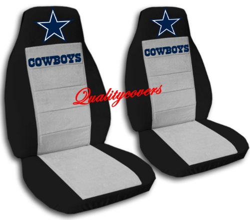 2 Black and Silver Cowboy seat covers for a 2009 to 2011 Toyota Corolla. Side Airbag friendly. by Designcovers (Image #1)
