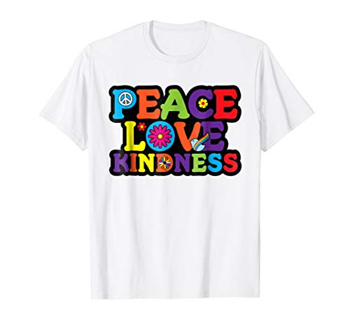 HIPPIE Shirt PEACE LOVE KINDNESS Tie Dye Halloween Costume