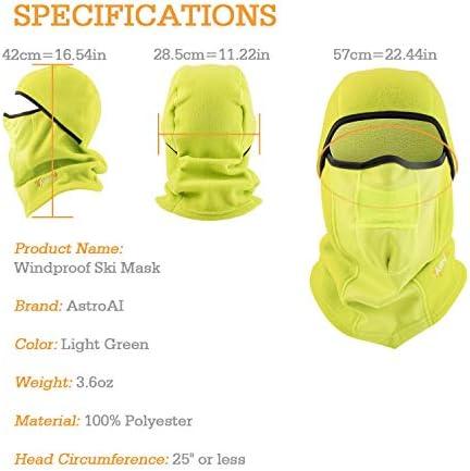 AstroAI Ski Mask Windproof Balaclava Breathable Face Mask Neon Yellow