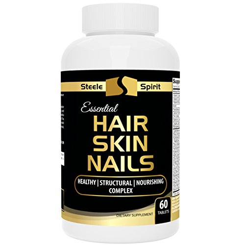 Acid Biotin - Hair Skin And Nails Vitamin Supplement w/ Biotin 5000mcg - Hyaluronic Acid Collagen and More - For Healthy Sexy Hair - Smooth Vibrant Skin - Strong Beautiful Nails - By Steele Spirit