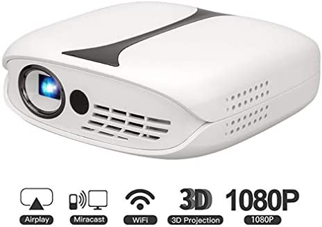 WENMHUI Mini Proyector, HD LED DLP 3D WiFi Proyector Opcional ...