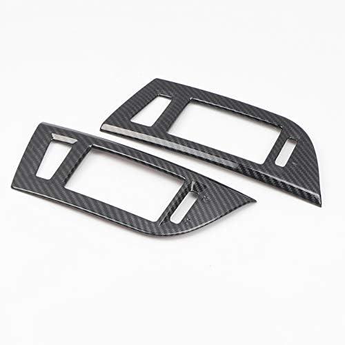 Cubierta de salida de aire medio para Pajero//Shogun V80 2007-2019 fibra de carbono 2 unidades color negro