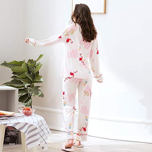 De 100 Ropa Otoño Domiciliaria Pijamas Lactancia Baujuxing Xxl L Flamencos Primavera Embarazadas Y Alimentación Atención Algodón Servicio Postparto Conjunto 5Fvwvg