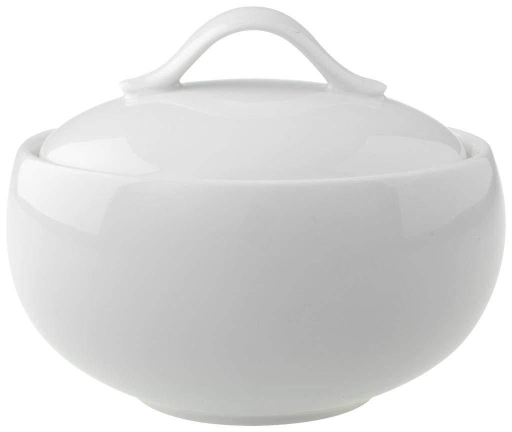 Villeroy & Boch New Cottage Basic Zuckerdose, 450 ml, Höhe: 6,5 cm, Premium Porzellan, Weiß