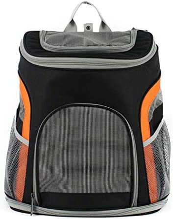 Yeahii Pet Breathable Mesh Backpack Small Cat Dog Outdoor Travel Carrier for Walk Hiking CyclingYou Happily / Yeahii Pet Breathable Mesh Backpack Small Cat Dog Outdoor Travel Carrier for Walk Hiking CyclingYou Happily