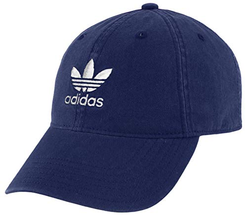 adidas Originals Youth Kids-Boy's/Girl's Boy's Washed Relaxed Strapback Cap, Collegiate Navy/White, ONE SIZE