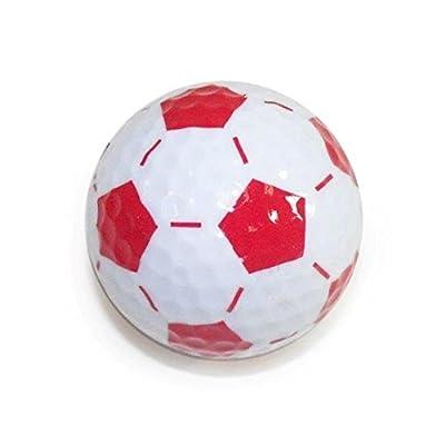 Golf Balls, Nitro Novelty Soccer Balls, 3 Pack, White/Red
