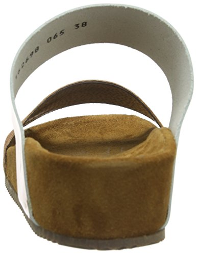 Sofie Schnoor Sandals w wide straps - Sandalias de punta descubierta para mujer Dorado (Peach glitter)