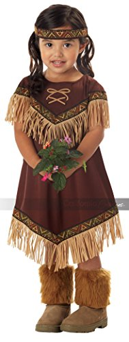 Toddler Pocahontas Costumes (Lil' Indian Princess Girl's Costume, Medium, One Color)