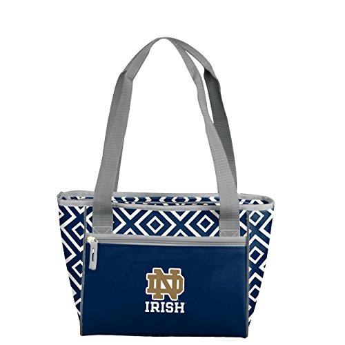 (Logo Brands NCAA Notre Dame Fighting Irish DD 16 Can Cooler Tote, Adult, Blue)
