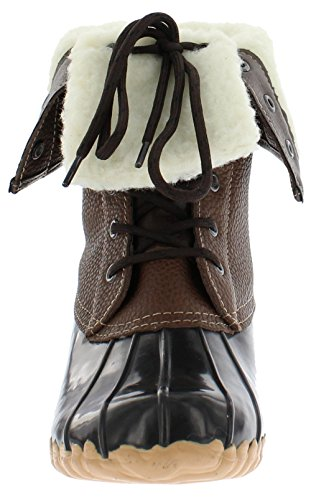 Brown Faux Fur Boots (Sporto Women's Daphne Faux-Fur Boot, Brown, Size)