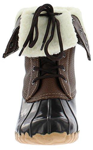 Sporto Womens Delmar Leather Duck Boot,Brown,10M