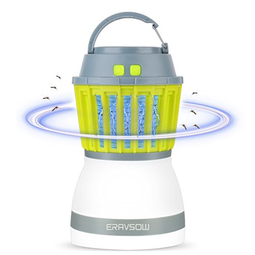 ERAVSOW Bug Zapper & LED Camping Lantern 2-in-1, Waterproof Rechargeable Mosquito Killer, Portable Compact Camping Gear For Home & Outdoors. by ERAVSOW