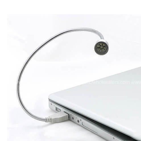 USB flex snake spot 7 LED light for Laptop & Apple Mac 8203 (3-Pack)