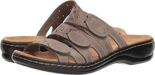 Clarks Women's Leisa Cacti Platform, Sage Leather, 6 B(M) US