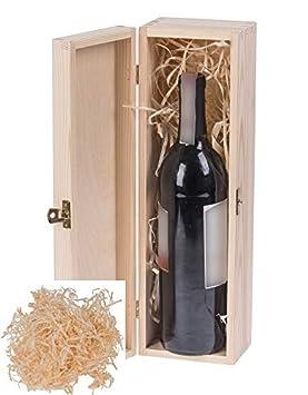Amazinggirl Botellas de Vino Botellas de Vino Caja Caja de Regalo decoración Madera Caja Vino Decoration