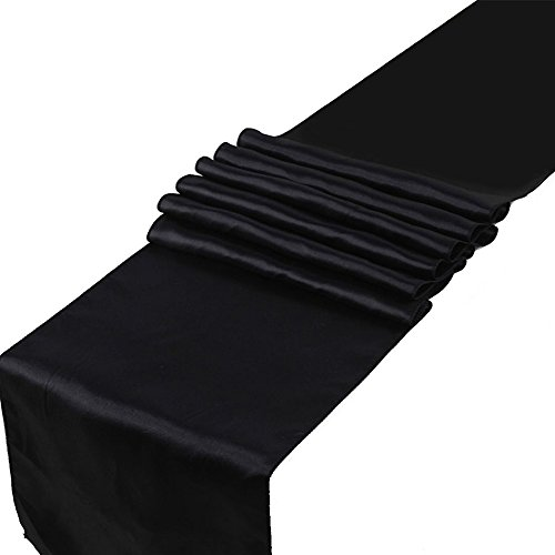 RayLineDo Pack of 10 12'' X 108'' Satin Table Runners for We
