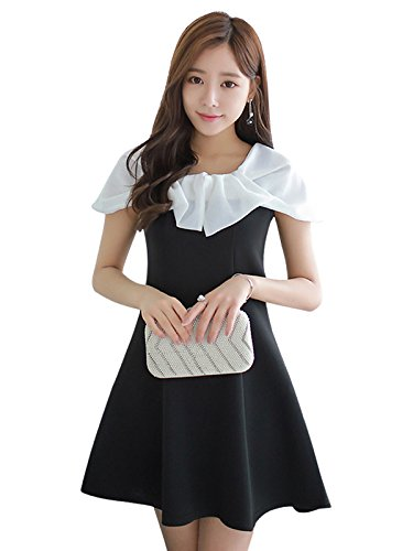 90's Style Black and White Dress For Women