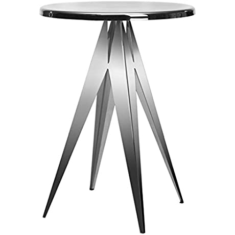 Safavieh Prism Stainless Steel Side Table Silver