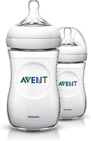 Philips Avent SCF693/27 - Pack de 2 biberones, tetina suave y flexible, anticólicos, PP 0% BPA, 260 ml, color transparente: Amazon.es: Salud y cuidado personal