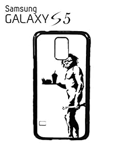 Banksy Caveman Apeman Mobile Cell Phone Case Samsung Galaxy S5 White