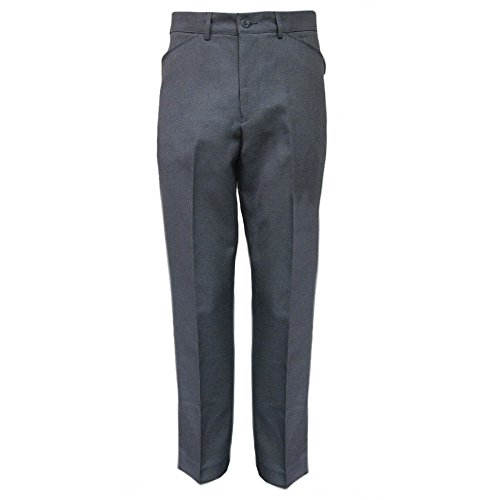 Mod Suit Trousers (FARAH Mens Classic Dark Grey Vintage Hopsack Retro Mod Trousers Size 34)