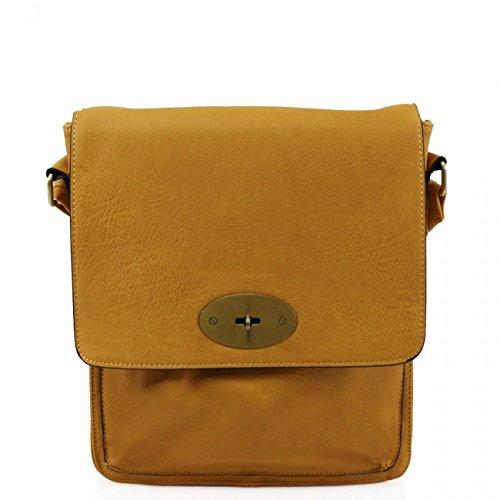 Faux X Shoulder D9cm Mum's Yellow Bag Tote Bag Handbags Across Flap Girls Body Body Grab H31cm Cross High For LeahWard Women's Women Quality Leather X W27cm x4qBFnx0wa