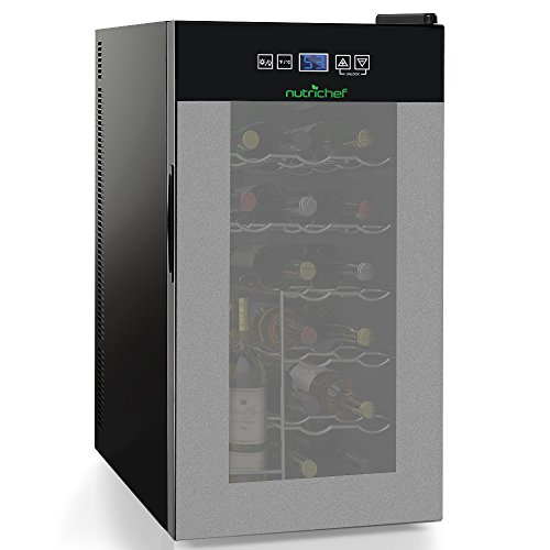 New Nutrichef 18 Bottle Thermoelectric Wine Cooler Refrigerator | Red, White, Champagne Chiller | Co...