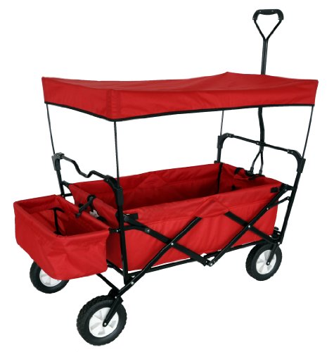 RED COLLAPSIBLE GARDEN UTILITY TRAVEL OUTDOOR CART FOLDING