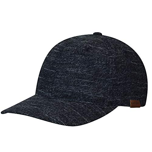 Kangol Men's Pattern Flexfit Baseball Cap HAT, Navy Marl, L/XL