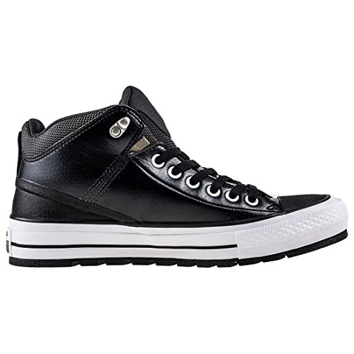 Converser Mens Ctas Street Botte Salut Chaussure De Skateboard Noir / Vent De Tempête