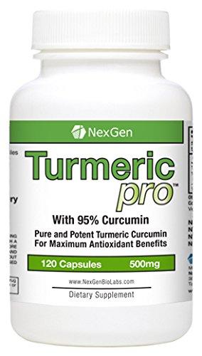TurmericPro - curcuma curcumine 95% portions de 1000 mg. Pur curcuma curcumine Supporte Joints, Vision et le foie et est un complément puissant anti-inflammatoire pour protéger votre corps contre les radicaux libres.