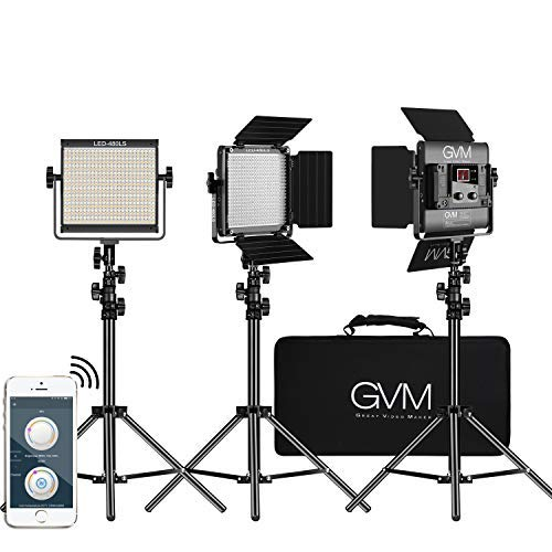 GVM 3 Pack LED Video Lighting Kits