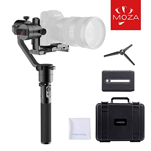 MOZA AirCross 3-Axis Handheld Gimbal Ultra-lightweight Portable Camera Stabilizer Support Unlimited Power Source Long-exposure Timelapse Auto-Tuning for Parameters For Mirrorless Cameras up to 1800g/3
