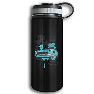 Retro Car Sports Water Bottles Stainless Steel Thermal Insulation Large Capacity Sports Kettle For Outdoor Running Camping Gym