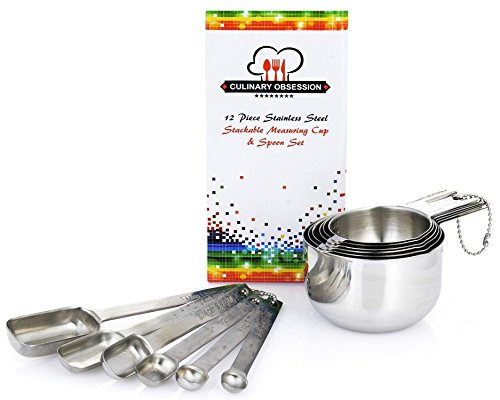 Stainless Steel Measuring Cups Spoons