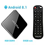 Android 8.1 TV Box 4GB DDR4 Ram 64GB ROM EstgoSZ H96 Max X2 Smart 4K TV Box Amlogic CPU Support HDMI 2.1/H265 VP9 Video Decoding/Dual WiFi 2.4G 5.0G/100M Ethernet/BL/USB3.0 Set Top Box EstgoSZ