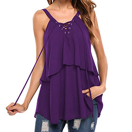 fd421730843 Amazon.com: Wintialy Women Casual Lace Up Sleeveless Crop Top Vest Tank  Shirt Blouse Cami Tops: Clothing