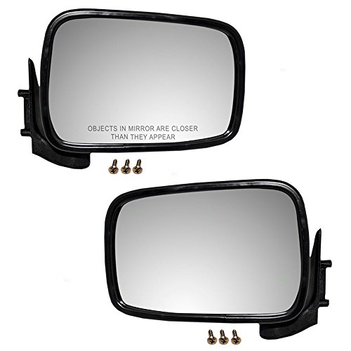 Driver and Passenger Manual Side View Mirrors Replacement for Mazda Pickup Truck UB4569180 8BU269120 AutoAndArt