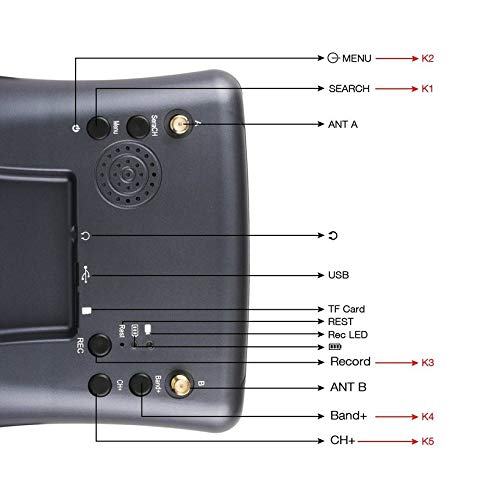 Wikiwand LS-008D 5.8G FPV Googles 40CH with 2000mA Battery DVR Diversity for RC Model by Wikiwand (Image #3)