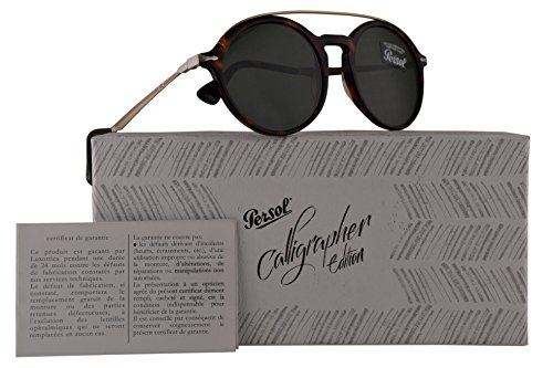 Persol PO3172S Calligrapher Edition Sunglasses Dark Havana Gold w/Dark Green Lens 51mm 2431 PO 3172-S PO3172-S PO - Sunglasses Cheap Persol