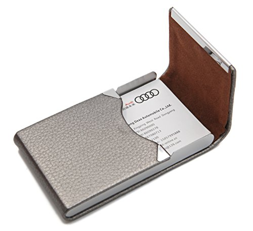Bussiness Name Card Case / Slim Credit ID Card Holder With Magnetic Shut - Gray