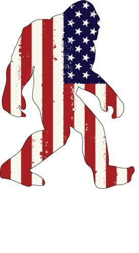 American flag sasquatch bigfoot vinyl window decal patriotic bumper sticker perfect bigfoot gift