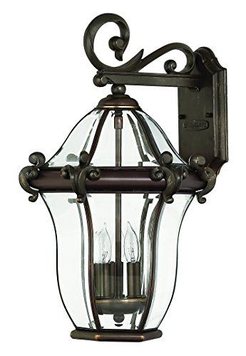 Hinkley 2444CB Traditional Three Light Wall Mount from San Clemente collection in Copperfinish,